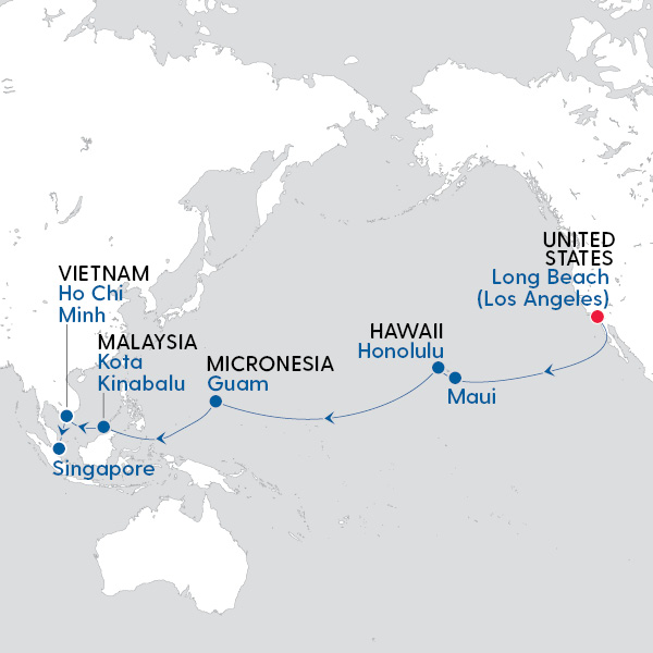 Los Angeles to Singapore Transpacific Journey - My Cruises on