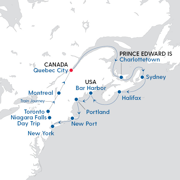 Map Of New York To Quebec Canada