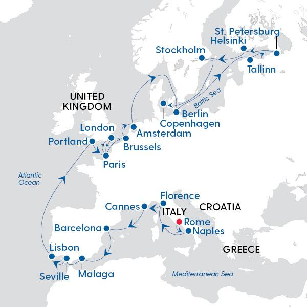Norwegian Cruise Line - Escape to the Mediterranean Sea and ...