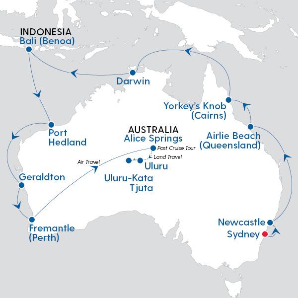 Map Of Australia Showing Uluru