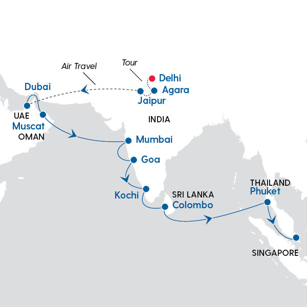 Celebrity Cruises - India's Golden Triangle and The Best of ... on hill stations india map, golden triangle mexico map, pittsburgh golden triangle map, golden triangle illinois map, india travel map, golden triangle portugal map, golden triangle europe map, taj mahal india map, dubai india map, southeast asia india map, south india map, golden triangle iceland map, nepal himalayas on world map, texas state major cities map, india rail map, golden triangle opium map, palace on wheels india map, thailand india map, golden triangle california map, char dham india map,