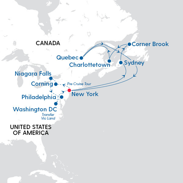 Map Of Eastern Canada And Usa.Msc Cruises Best Of Eastern Canada Usa Map Of Cruise Route My