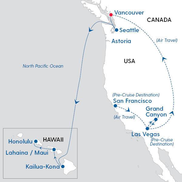 Islands Of Canada Map.Royal Caribbean International Discover Canada The Hawaii Islands