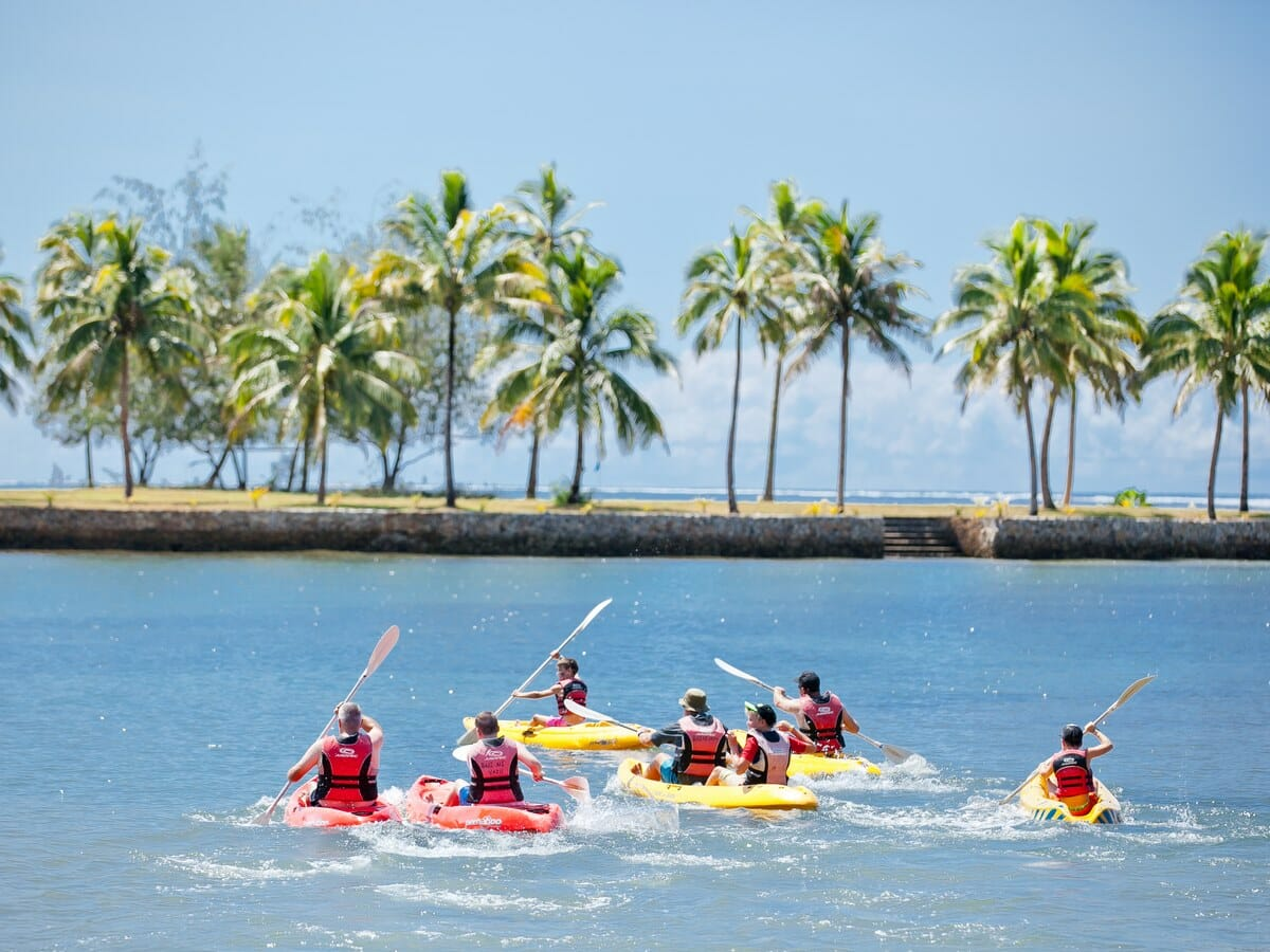 The Naviti Resort Fiji Gallery Image of Kayak in Ocean