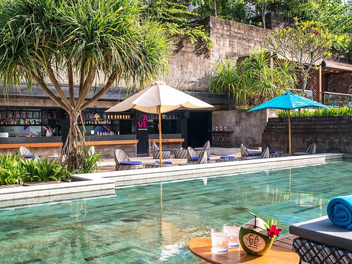Hotel Indigo Bali Seminyak Gallery Image of Cave Pool Lounge