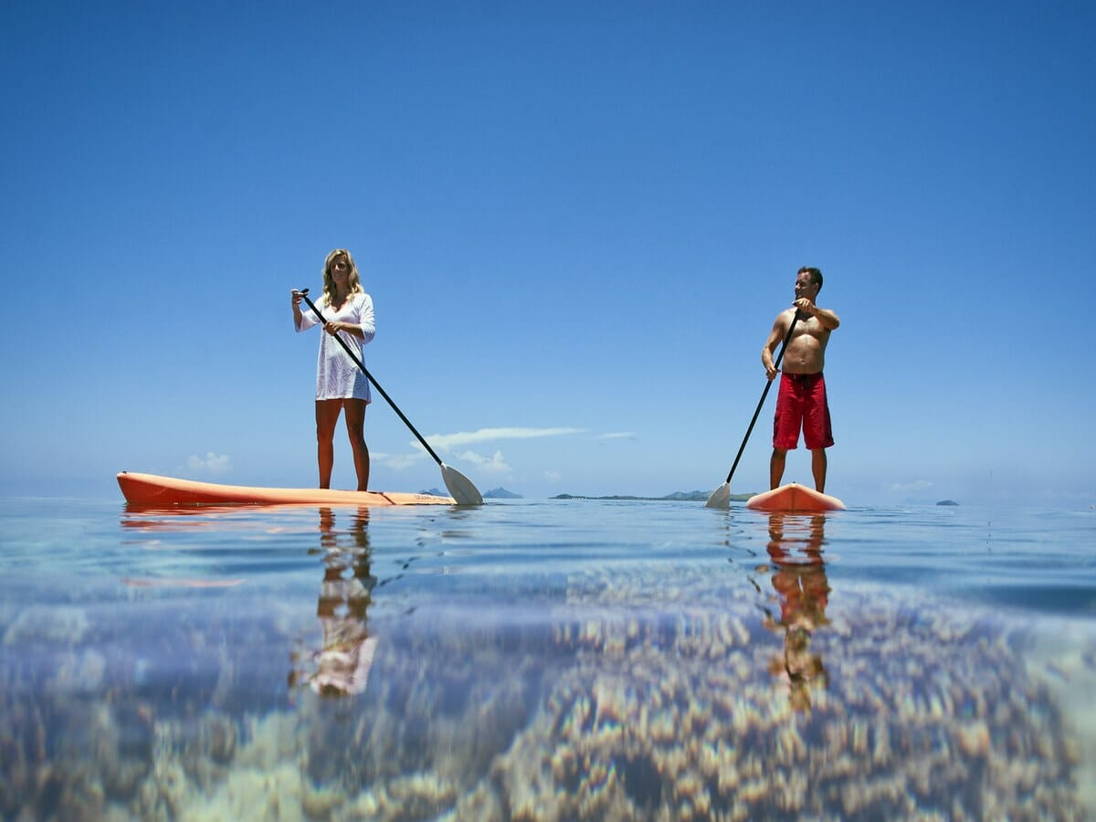Fiji Hideaway Resort & Spa Gallery Image of Stand Up Paddle Boarding