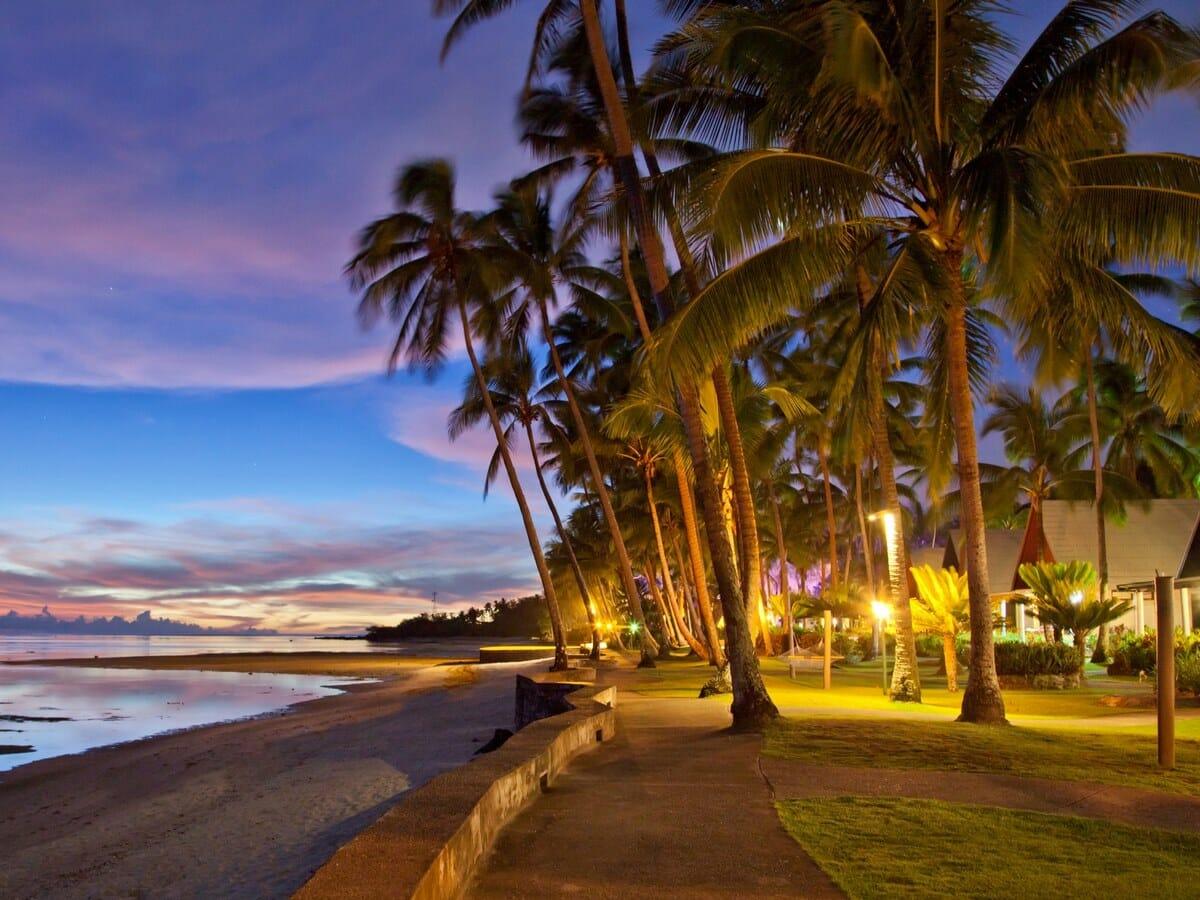 Fiji Hideaway Resort & Spa Gallery Image of Sunset Over Beach