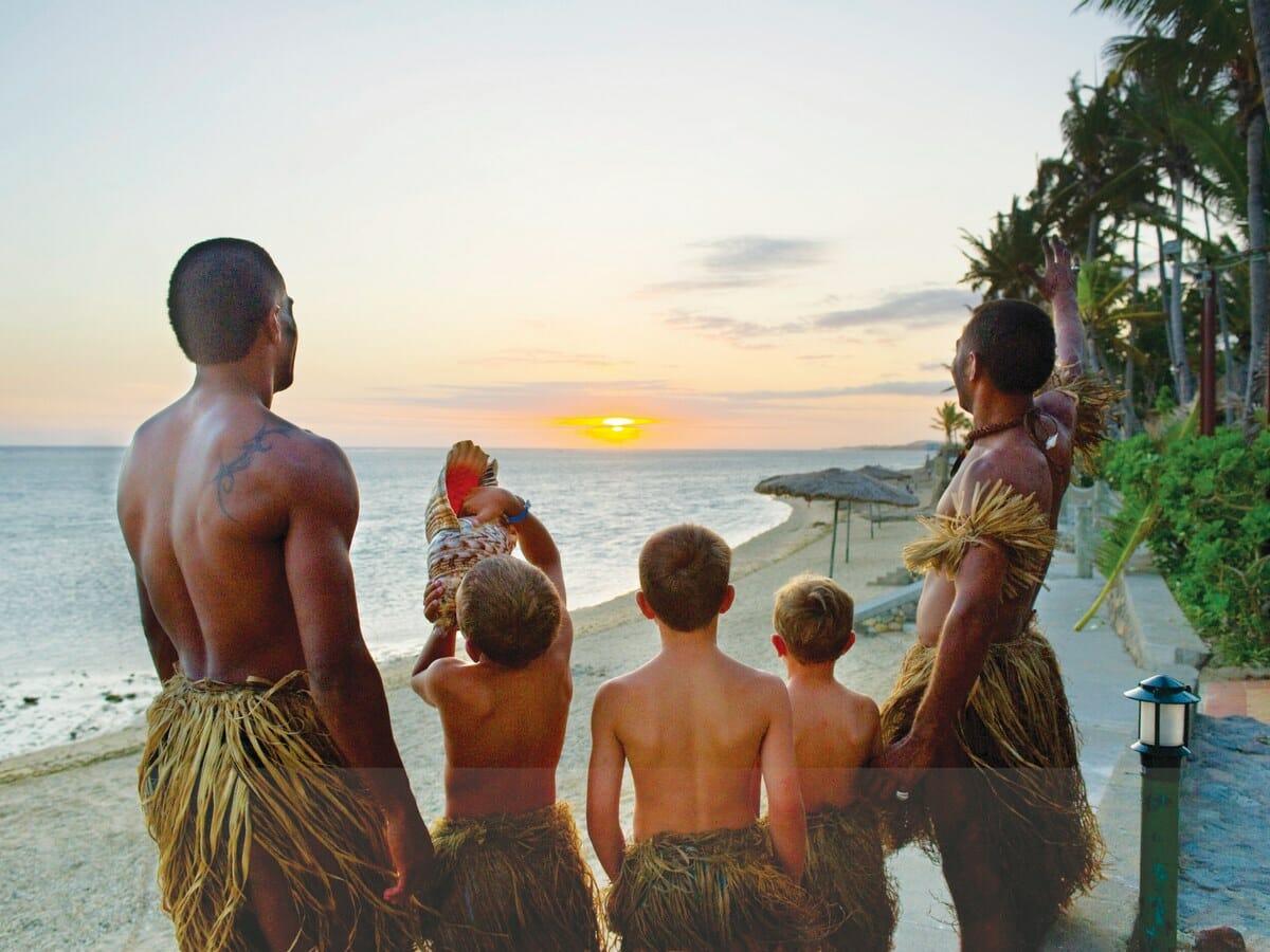 Outrigger Fiji Beach Resort Gallery Image of Staff & Guest Kids - Little Warrior
