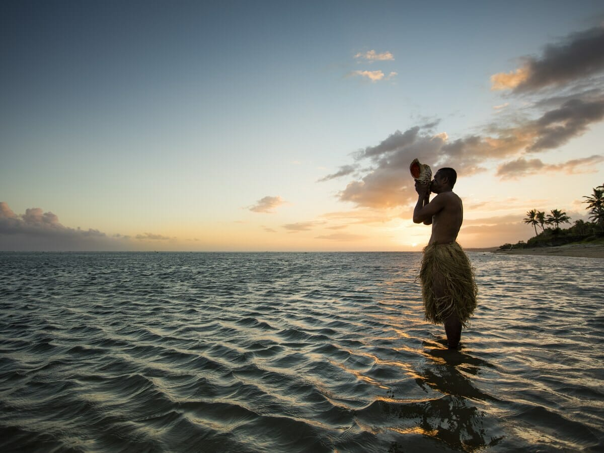 Outrigger Fiji Beach Resort Gallery Image of Sunset Ceremony