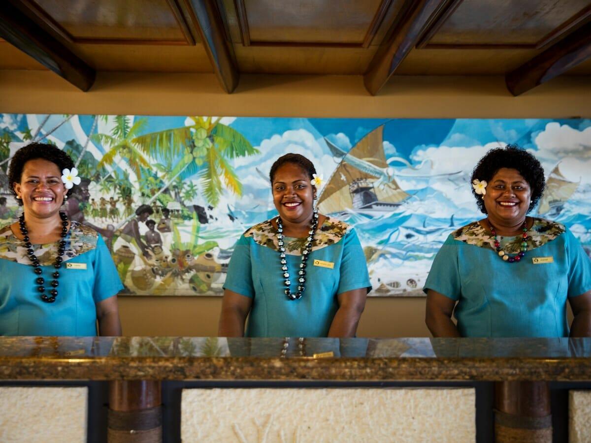 Outrigger Fiji Beach Resort Gallery Image of Friendly Fijian Staff