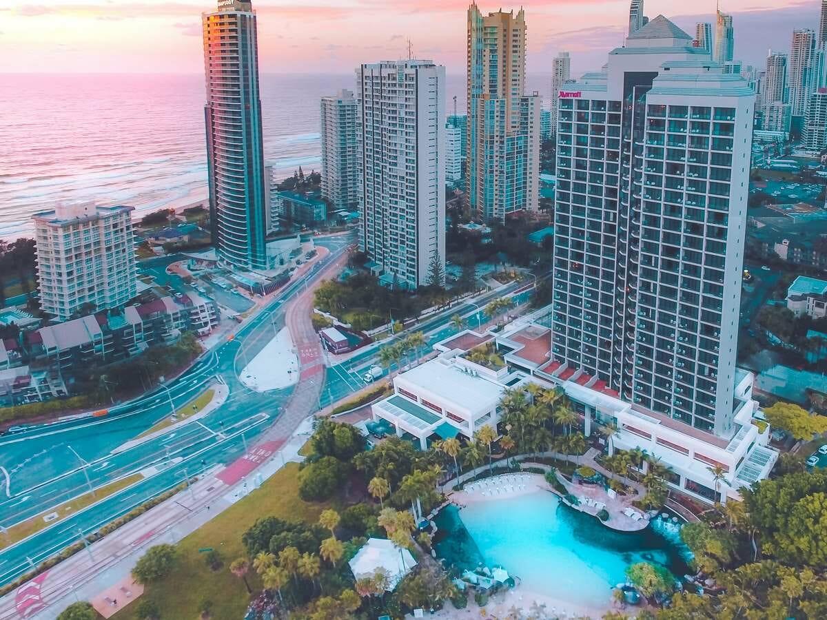 Surfers Paradise Marriott Resort & Spa Gallery Image of Aerial of Resort