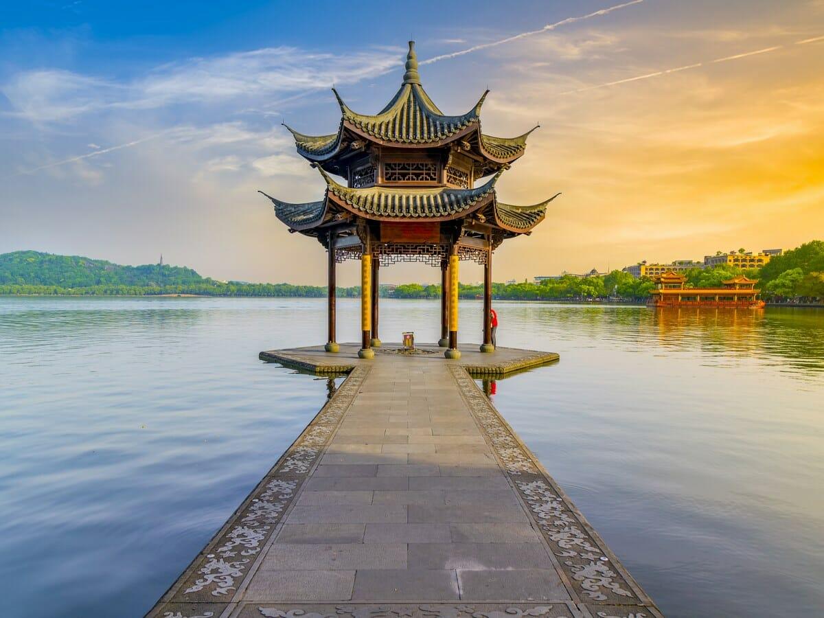 Nexus Holidays Gallery Image of Pavilion, West Lake, Hangzhou
