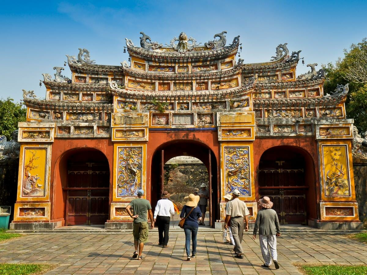 Best of Vietnam Tour gallery image of Hien Lam Pavillion Gate, The Citadel, Hue