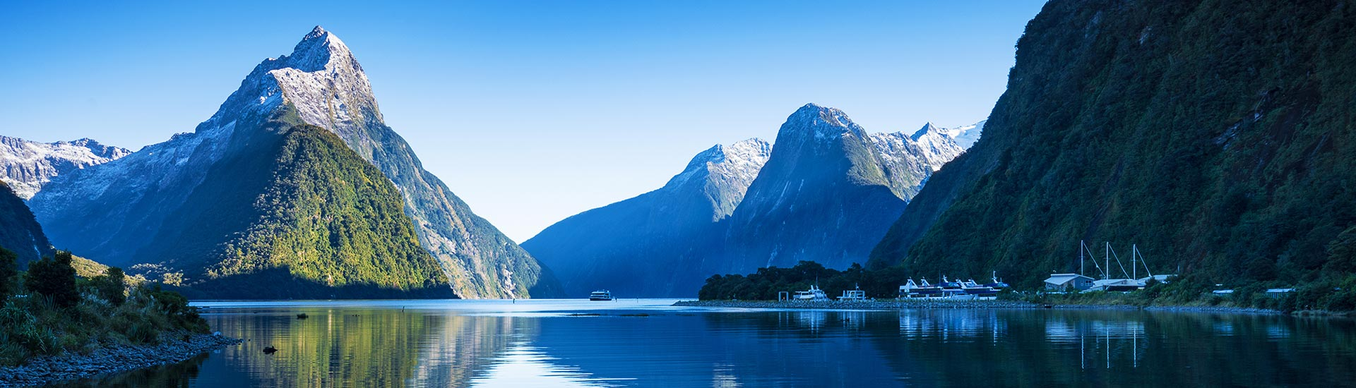 milford sound new zealand hero image