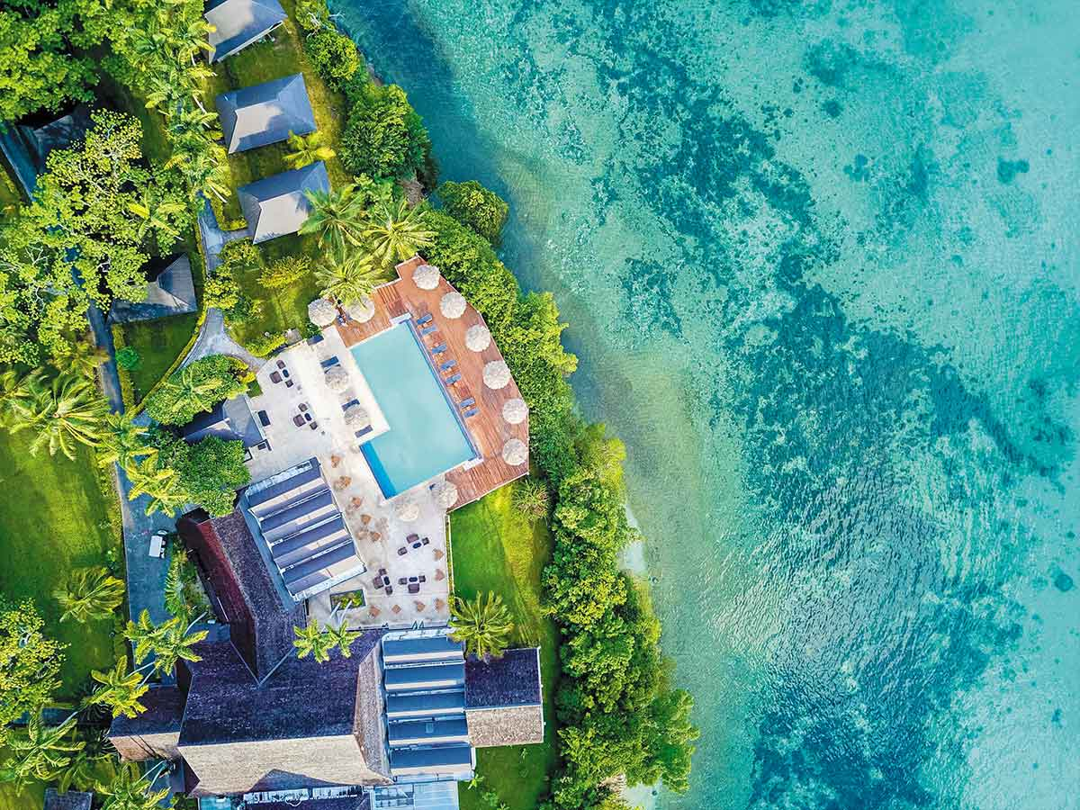 Iririki-Island-Resort-Spa-pool-aerial