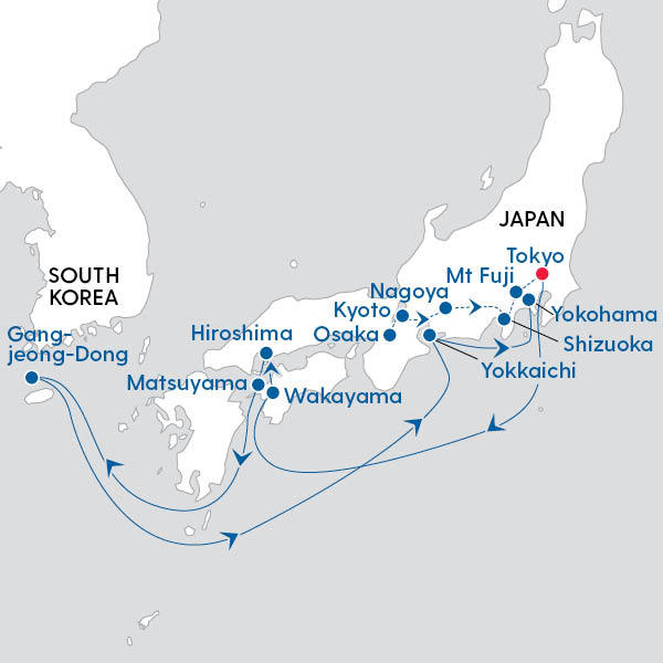 Ultimate Japan Discovery Route Map