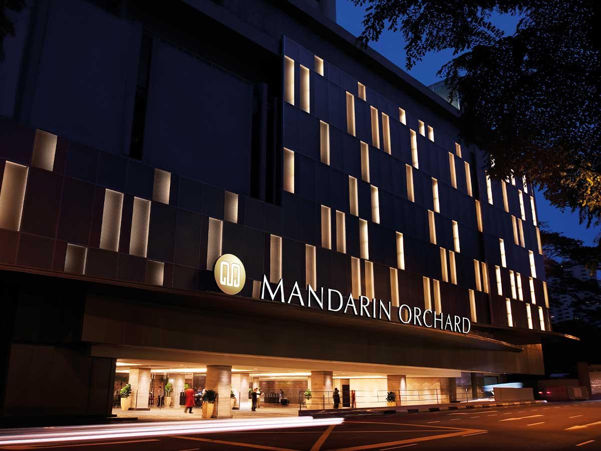 Mandarin Orchard Singapore by Meritus bellboy external facade