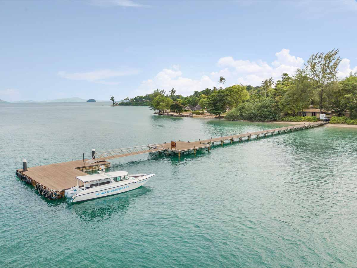 The Naka Island, A Luxury Collection Resort & Spa Phuket arrival jetty