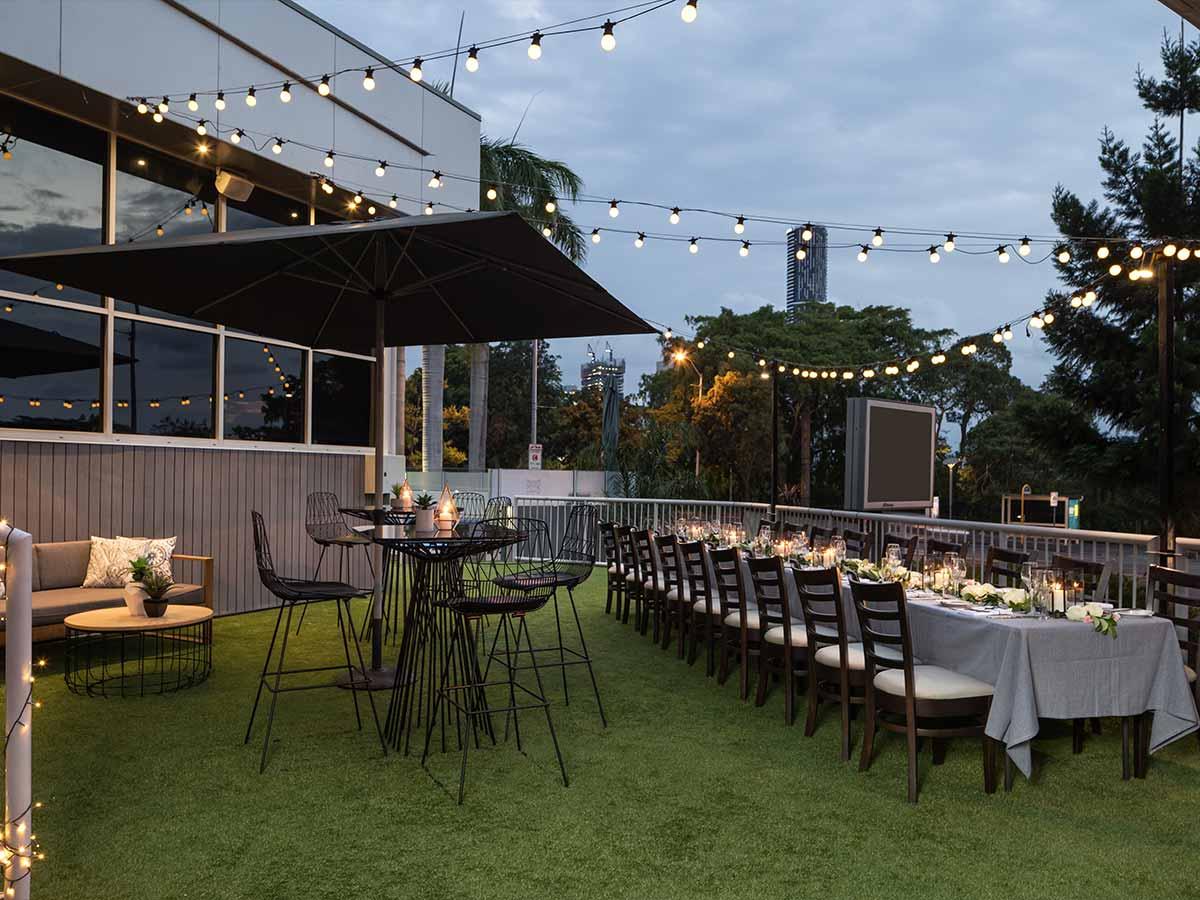 The Park Hotel Brisbane external rooftop dining