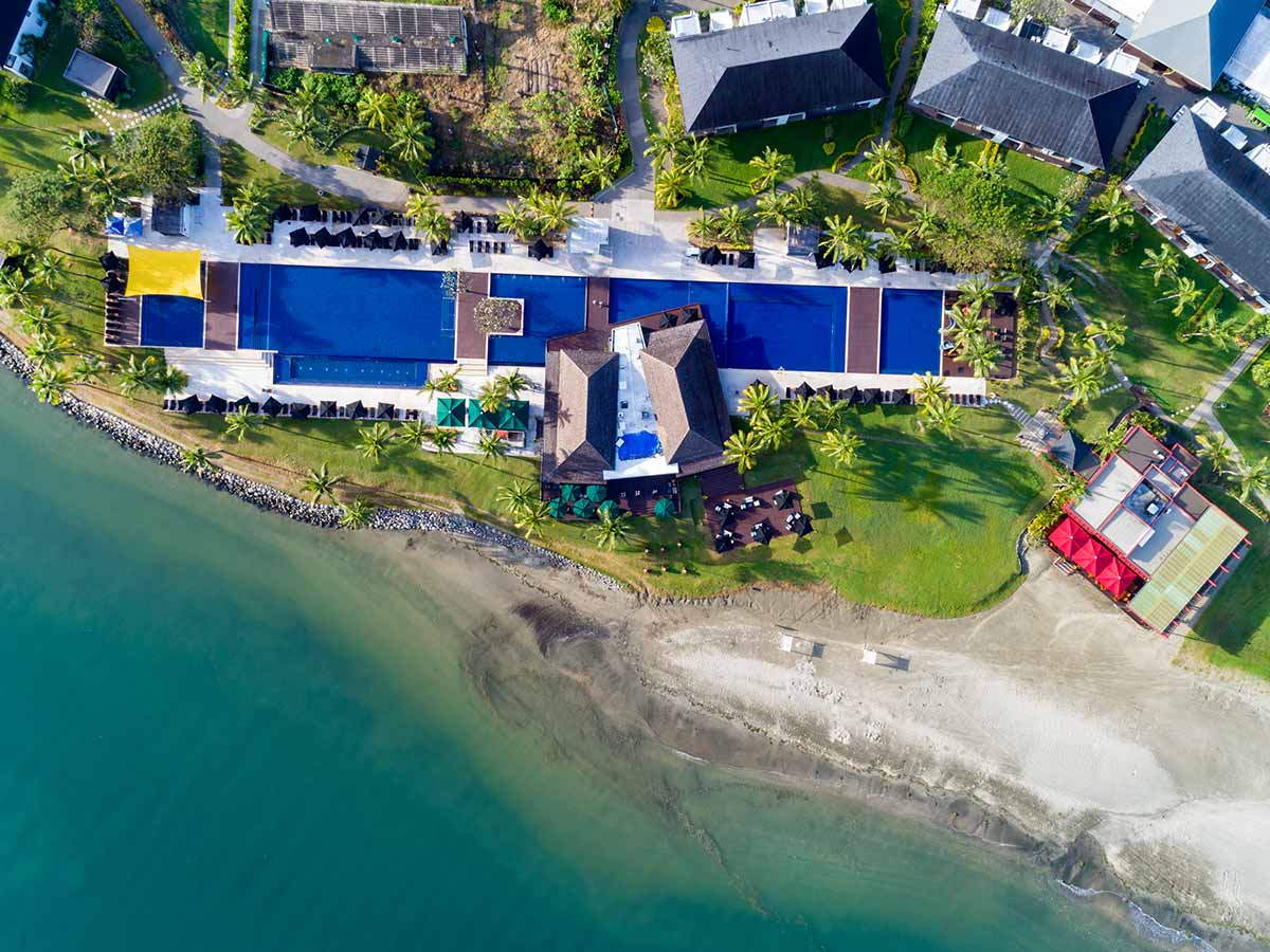 Hilton Fiji Beach Resort Spa aerial