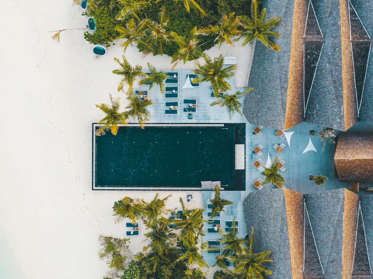 Movenpick Resort Kuredhivaru Maldives pool aerial